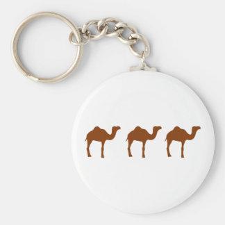 Camellos Llavero Redondo Tipo Pin