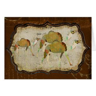 Camellos soñadores Notecard del vintage