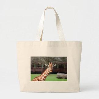 Camelopard (giraffe) canvas bag