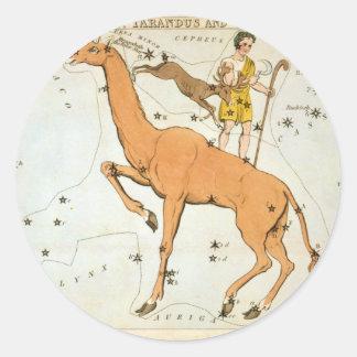 Camelopardalis, Tarandus and Custos Messium Classic Round Sticker