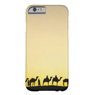 Camels and camel driver silhouetted at sunset, 4 barely there iPhone 6 case