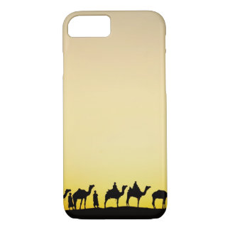 Camels and camel driver silhouetted at sunset, 4 iPhone 8/7 case