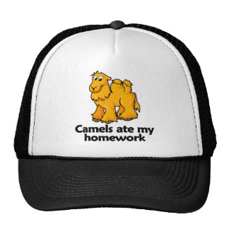 Camels ate my homework trucker hat