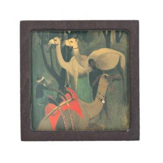 Camels by Amrita Sher-Gil Keepsake Box