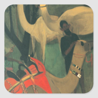Camels by Amrita Sher-Gil Square Sticker