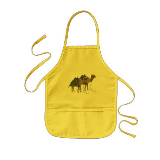 Camels in the desert kids' apron