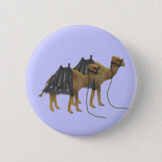 Camels in the desert button