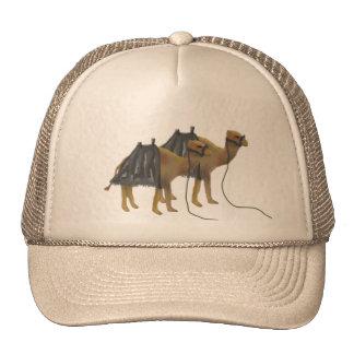 Camels in the desert Cap Trucker Hat