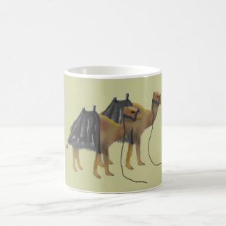 Camels in the desert coffee mug