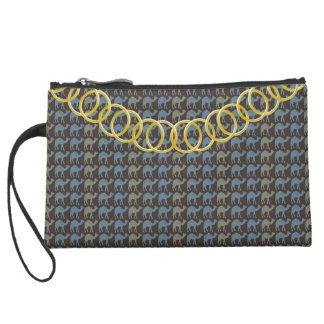 Camels Luxury Sueded Baguette Clutch