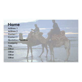 Camels, Morocco Double-Sided Standard Business Cards (Pack Of 100)