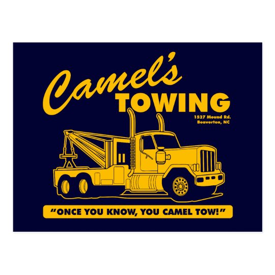 camel's towing company postcard