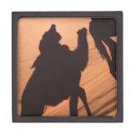 Camel's trail in Jordan desert Premium Keepsake Box