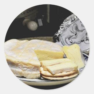 Camembert de Blythedale Pegatina Redonda