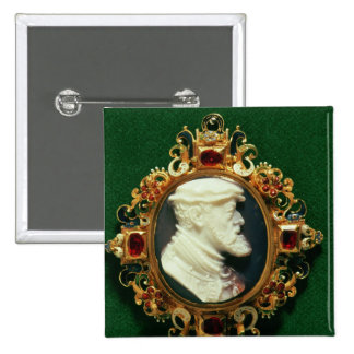 Cameo bearing the portrait of Charles I of Spain Button
