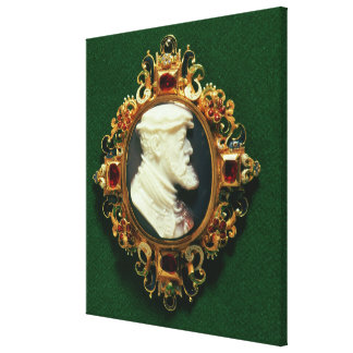 Cameo bearing the portrait of Charles I of Spain Canvas Prints