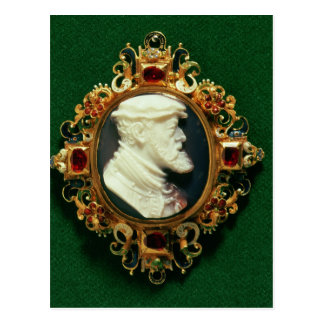 Cameo bearing the portrait of Charles I of Spain Postcard