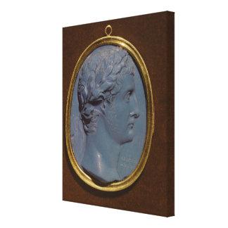 Cameo bearing the profile of Tiberius Canvas Print