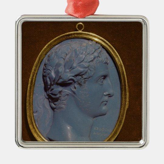 Cameo bearing the profile of Tiberius Metal Ornament