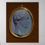 Cameo bearing the profile of Tiberius Poster