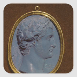 Cameo bearing the profile of Tiberius Square Sticker