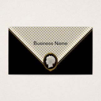 Cameo Black Gold Spot Elegant Business Business Card