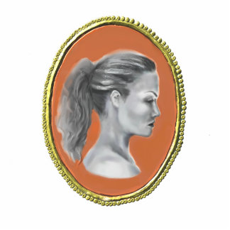 Cameo brooch, photo scupture magnet photo sculpture