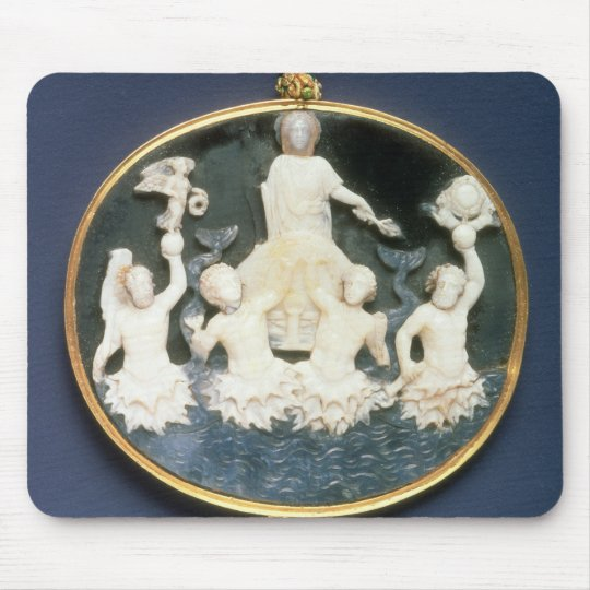 Cameo commemorating the Naval victory of Mouse Pad