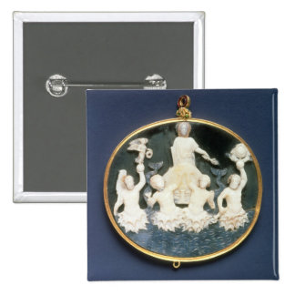 Cameo commemorating the Naval victory of Pinback Button