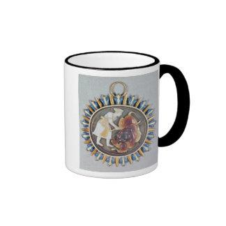 Cameo depicting Emperor Shah Jahan killing lion Coffee Mug