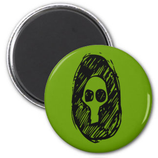 Cameo of Skulls 2 Inch Round Magnet