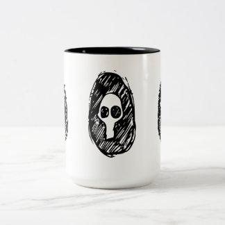 Cameo of Skulls Two-Tone Coffee Mug