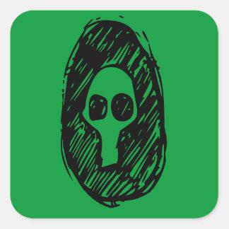 Cameo of Skulls Square Sticker