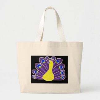 Cameo Peacock Large Tote Bag