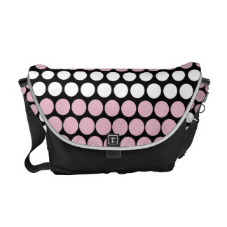 Cameo Pink and White Polka Dot Messenger Bag