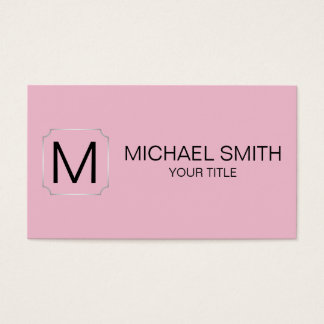 Cameo pink color background business card