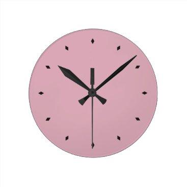 Cameo Pink Round Clock