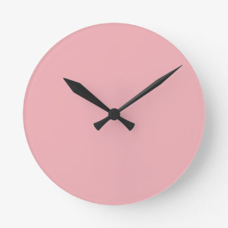 CAMEO PINK (solid color) ~ Round Clock