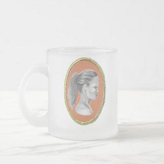Cameo portrait mug