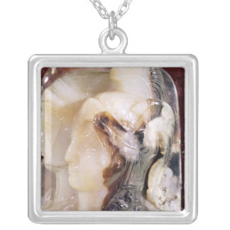 Cameo portrait of Alexander Silver Plated Necklace