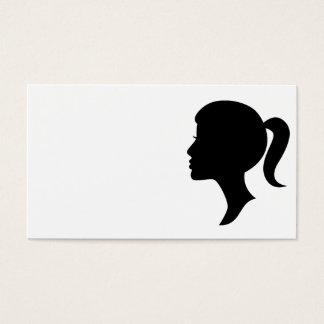Cameo Silhouette Girl Business Card