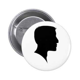 Cameo Silhouette Man Pinback Buttons