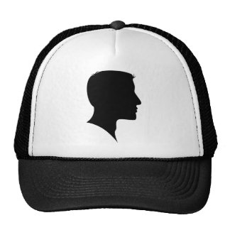 Cameo Silhouette Man Mesh Hat