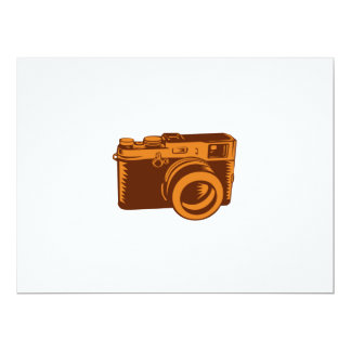 Camera 35mm Vintage Woodcut Card