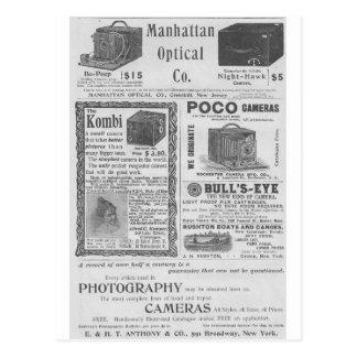Camera ads postcard