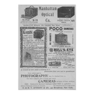 Camera ads posters