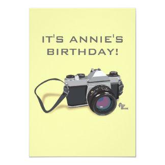 "Camera Birthday Invitation 5"" X 7"" Invitation Card"