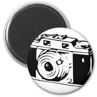 Camera, Black And White Magnet