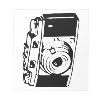 Camera, Black And White Note Pad