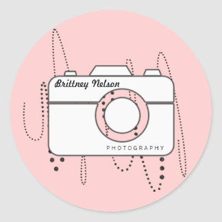 Camera + Business name Photographer Stickers